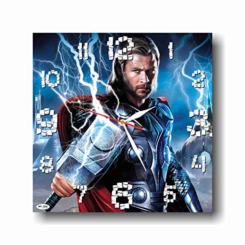 - ART TIME PRODUCTION Thor 11'' Handmade Wall Clock - Get Unique décor for Home or Office – Best Gift Ideas for Kids, Friends, Parents and Your Soul Mates