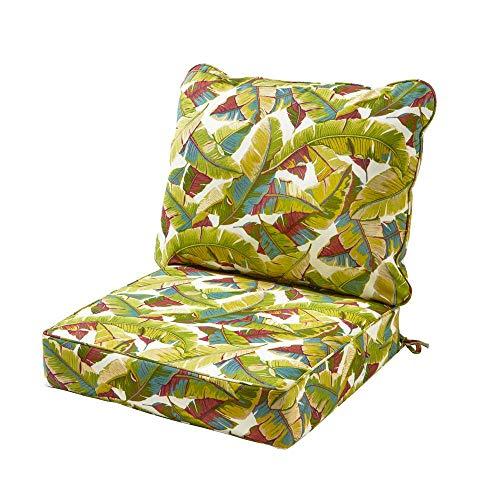 Greendale Home Fashions Deep Seat Cushion Set Palm Leaves Multi + Free Home Decor