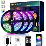 LED Strip Lights, YLCVBUD 39.42FT/12M 5050 RGB 360 SMD Smart Bluetooth Rope Color Changing Lights Music Sync, App Control with 20 Keys Remote for TV,Bedroom,Party and Home Decoration (Tamaño: 39.42FT)