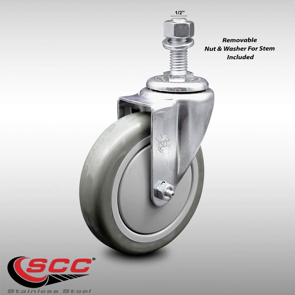 Cylficl 1PCS 2 Inch Casters Flat Trolley Universal Wheel with Brake Adjustable Support Castors Heavy Duty Metal Caster Color : C