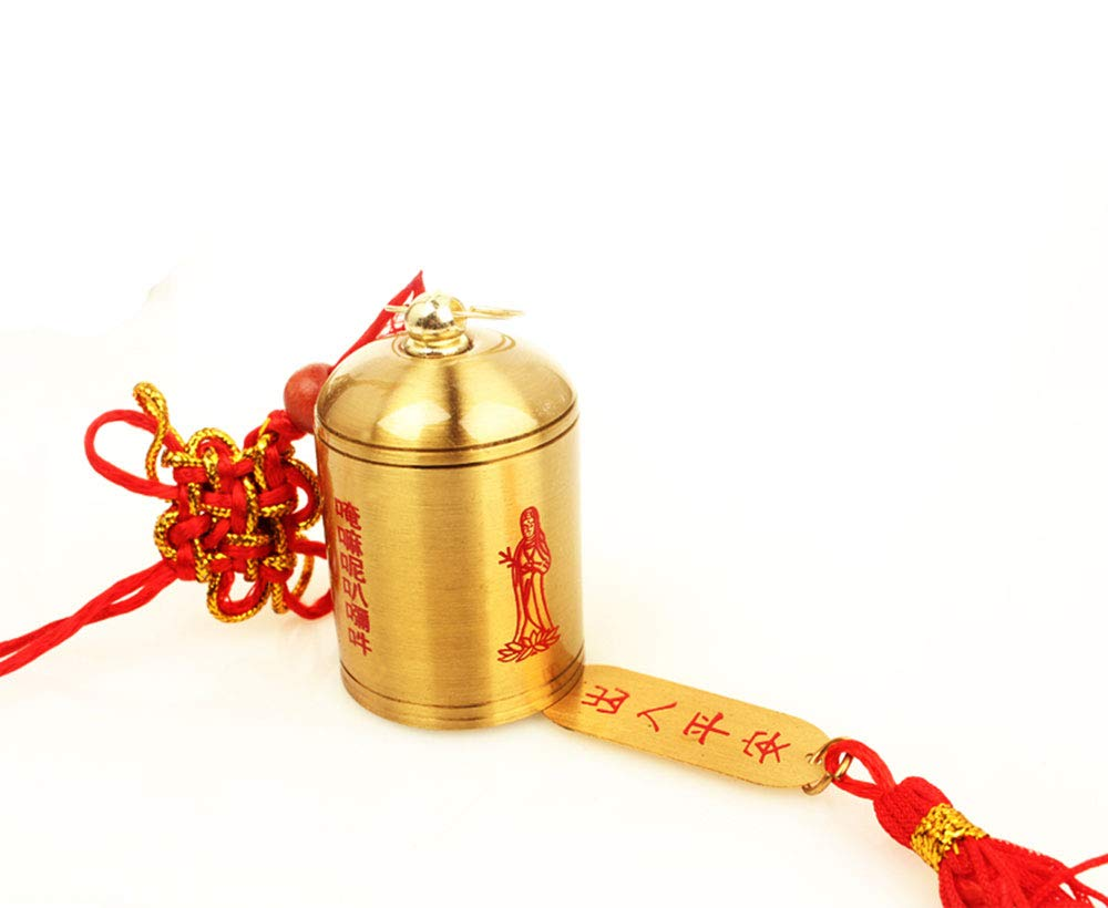 FengShuiGe Chinese Fengshui Copper Bells Lucky Wind Chimes Outdoor Home Decoration - Feng Shui Bell for Wealth and Safe, Peace and Success (D)