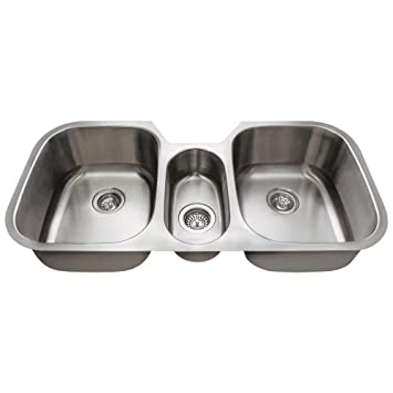 4521 16 gauge undermount triple bowl stainless steel kitchen sink 4521 16 gauge undermount triple bowl stainless steel kitchen sink      rh   amazon com