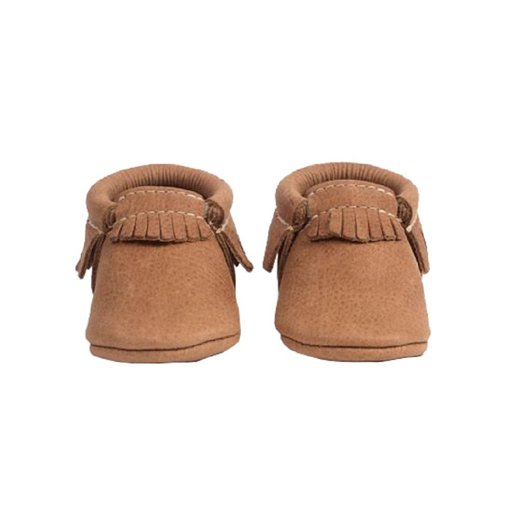 Freshly Picked Soft Sole Leather Baby Moccasins - Zion Size 7 by Freshly Picked