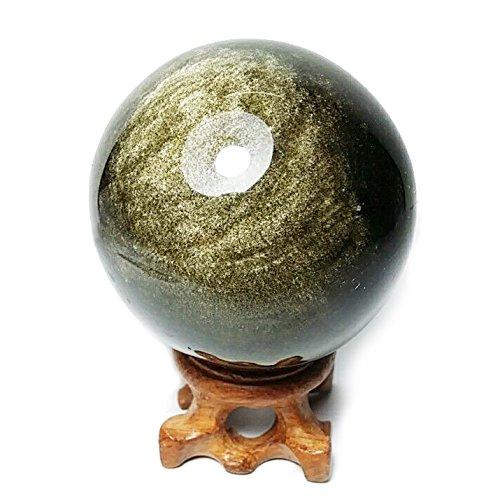 Gold Obsidian (Gold Obsidian Sphere, 60mm / 2.4