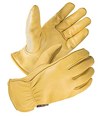 SKYDEERE Deerskin Leather Hi-Performance Utility Driver Work Glove