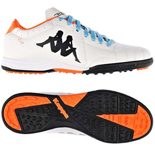 KappaPlayer Tg Base - Zapatillas de fútbol hombre Naranja - White-Orange Fluo