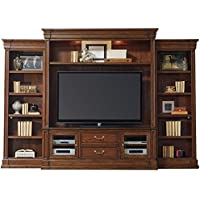 Hooker Furniture Clermont 4-Piece 129 Entertainment Center in Warm Cherry