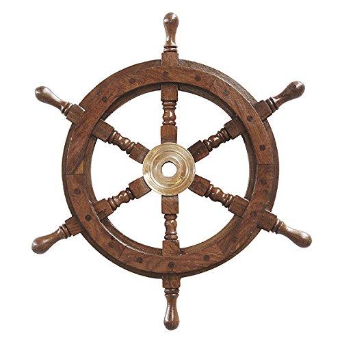 Nave nostalgica timone in Legno e Ottone Maritim 42 cm
