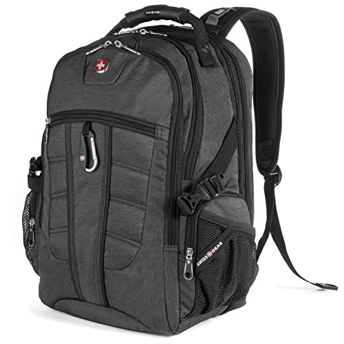 SwissGear Backpack Laptop Travel Backpack ScanSmart (Slate Grey, Model SA1753)
