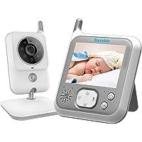 Vigilabebés Inalambrico Bebé Monitor Inteligente con Cámara Audio Pantalla LCD de 3.2 /Monitoreo deTemperatura VOX Auto Wake-up luz nocturn Visión Nocturna Intercomunicador Canción de Cuna