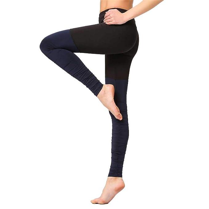 e7040c62f6cbdd Fitness Women Yoga Leggings Elastic Waist Slim Screw Thread Step On Foot  Stretch Running Gym Workout