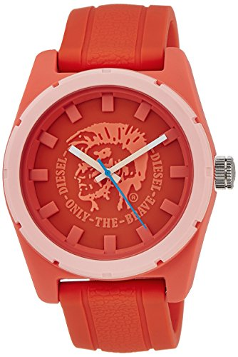 Diesel Watches Rubber Company Unisex Watch (Red)