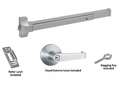 Global Door Controls Push Bar Panic Exit Device Aluminum With
