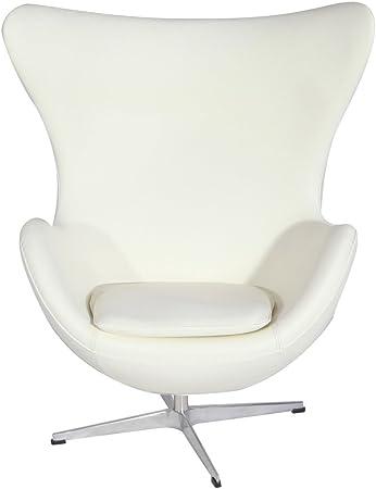 Egg Chair Arne Jacobsen Kopie.Amazon Com Mlf Arne Jacobsen Egg Chair In Top White Cream Italian