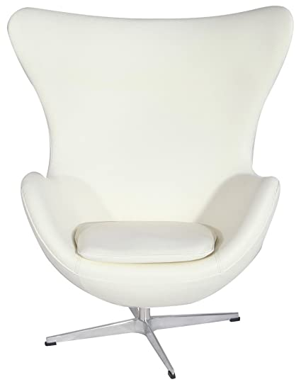 Superior MLFu0026reg; Arne Jacobsen Egg Chair In Top White/Cream Italian Leather. Famous  Modern