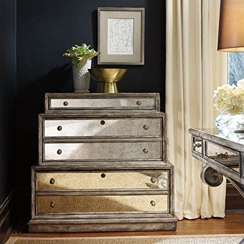 Hooker Furniture Mirrored 3-Drawer Lateral File in Weathered Gray by Hooker Furniture