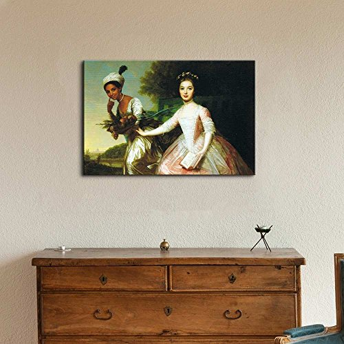 Dido Elizabeth Belle by Johann Zoffany Print Famous Painting Reproduction