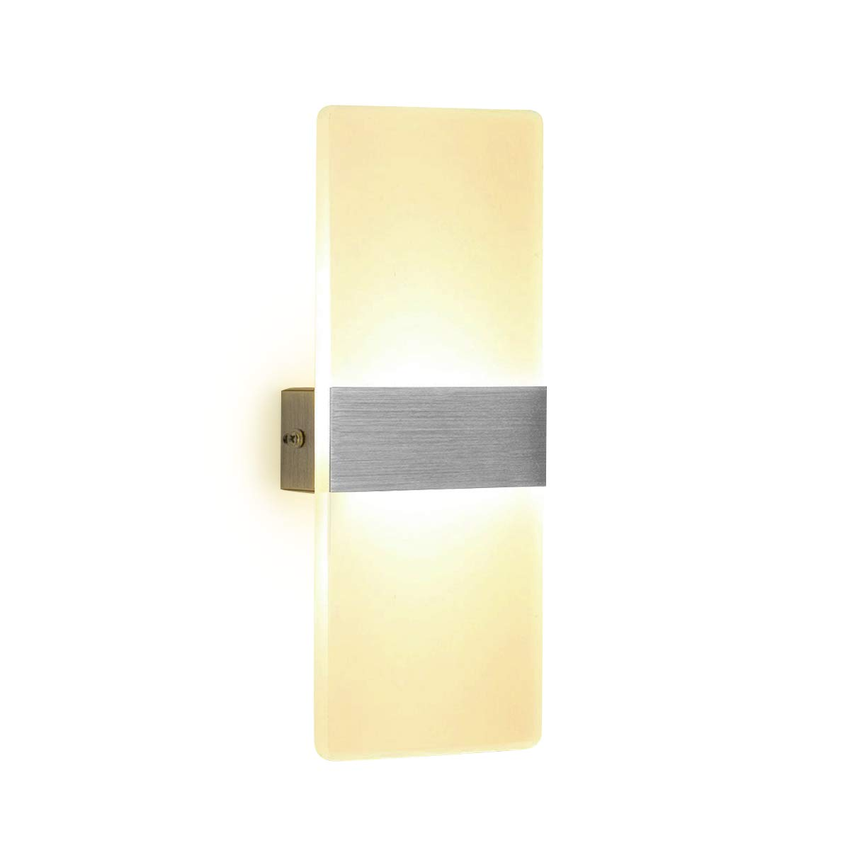 LED Wall Light 6W Warm White Modern Acrylic Wall Lamp White Wall Sconce Lights Night Lights Perfect for Living Room Bedroom Corridor Stairs Bathroom Indoor Lighting NetBoat