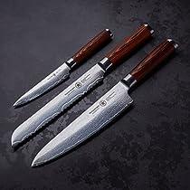 STERNSTEIGER 3PCS DAMASCUS KNIVES SET WITH (13 MONTHS WARRANTY EXCLUSIV SET)