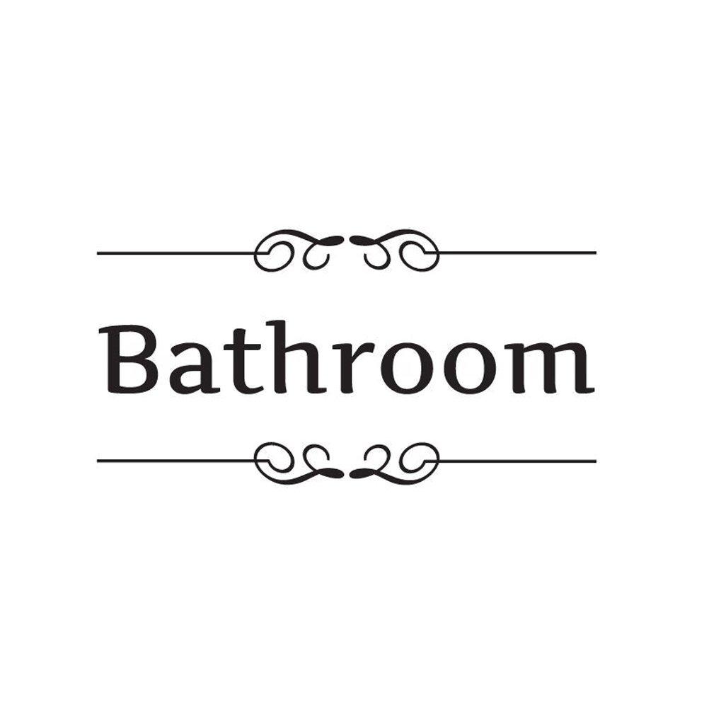 Vosarea Adesivi murali Rimovibili Bagno Decor Toilet Sign Sign Art Decals (Bagno)