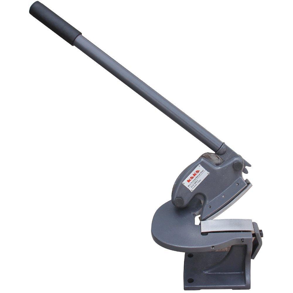KAKA Industrial MMS-4 Multiple Purpose Bench Top Throatless Sheet Metal Shear, Light Weight, Easy Operation, 14 Gauge Mild Steel Sheet Metal Cutter