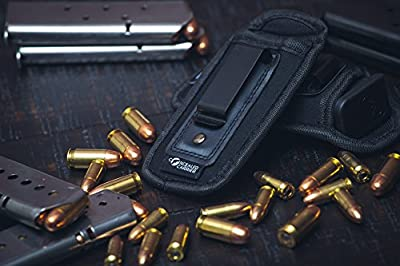 2-Pack Universal Magazine Holster IWB Clip | 9mm .40 .45 | Mag Holster For Glock 19 43 17 Sig 1911 S&W M&P | Fits Any 7 10 15 Round Clips For All Pistols | Gun Ammunition Holsters | Handgun Ammo Pouch