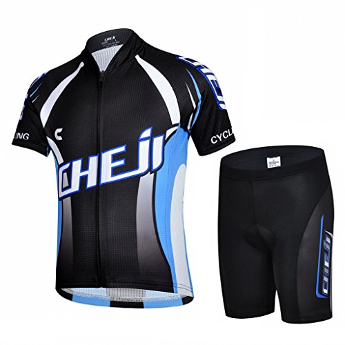 Ateid Children Boys' Girls' Cycling Jersey Set Short Sleeve with 3D Padded Shorts Blade Master 9-11 Years