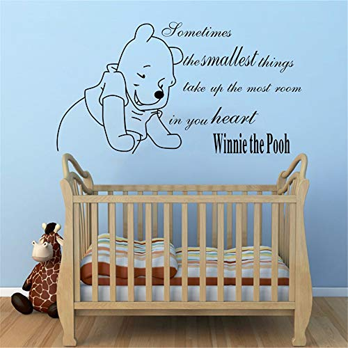 Nisou Wall Decal Sticker Art Mural Home Decor Quote Winnie The Pooh Baby Home Girls Boys Bedroom Decor Kids ()