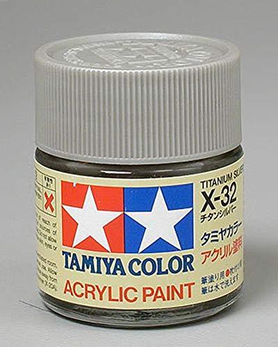 Tamiya America, Inc Acrylic X32, Titanium Silver, TAM81032