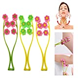 Face Up Roller Massager for Slimming Remove Chin Neck 2 in 1 Beauty Tools, Thin Face-lift Elastic Facial Roller Massage-Pink