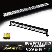 "Xprite 32"" 180W LED Light Bar Spot Flood Combo Work Light Bar for Off-road Truck Car ATV UTV Jeep Boat"