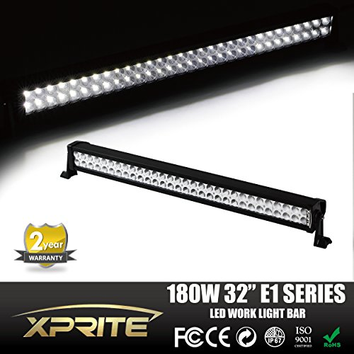 Xprite 30' Led Off Road Led Light Bar Flood/spot Combo Beam- 3w Led-180w