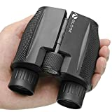 Binoculars for adults Birdwatching, 10x25 Folding High Powered Binocular with Weak Light Night Vision Wide Angle Compact Waterproof Zoom Long Range Telescope For Outdoor, Sports Game, Concerts