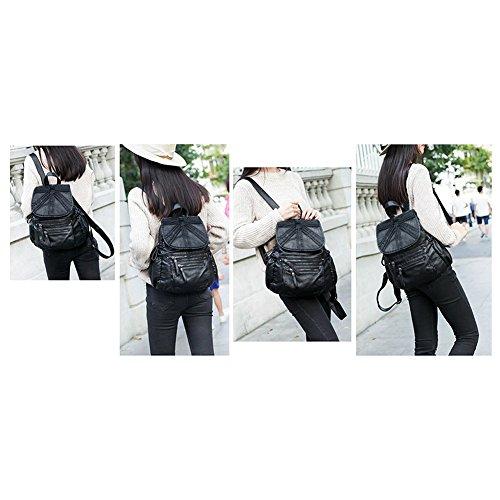 à véritable dos Cartable Naturel femme en style Fanshu sac vintage Noir03 Noir cuir tnwxSvXvYq