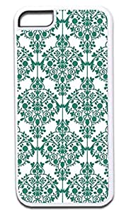 0iphone 5c-Floral Damask Pattern- Case for the APPLE iphone 5c ONLY!!!-NOT COMPATIBLE WITH THE iphone 5c!!!-Hard White Plastic Outer Case