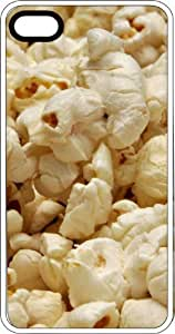 Fluffy White Popcorn White Rubber Case for Apple iPhone 4 or iPhone 4s