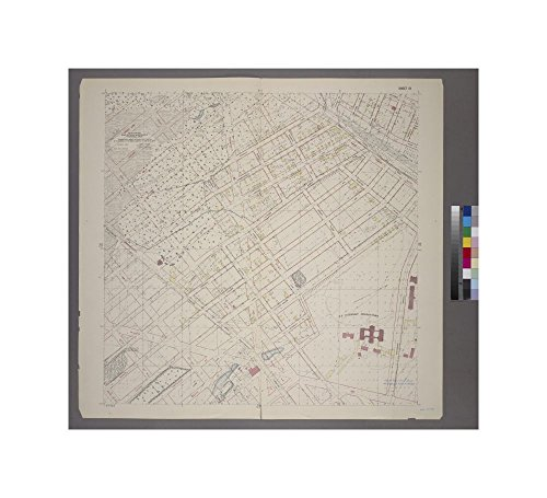 1905 map of Bronx, N.Y. Sheet 19: Grid #16000E - 20000E, #5000S - 9000S. Includes Westchester Avenue (Parkchester),Tremont Avenue, West Farms Road, Pugsley Street, Tompkin Street (White Plains - Parkchester Ny