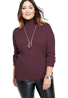 0e963552e IN VOLAND Women s Plus Size Turtleneck Lightweight Long Sleeve Top ...