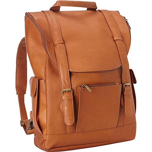 le-donne-leather-ld-044-tan-classic-laptop-backpack-tan