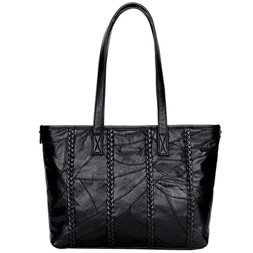 Rebecca Women Durable Shoulder Bag PU Leather Large Capacity Classic Quilted Tote Handbag ()