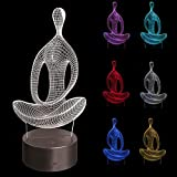 SYlive Meditation Colorful Touch 3D Night Light USB LED Stereo Vision Night Light