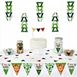 Big Dot of Happiness Jungle Party Animals - Triangle Safari Zoo Animal Birthday Party or Baby Shower Decoration Kit - 72 Piece