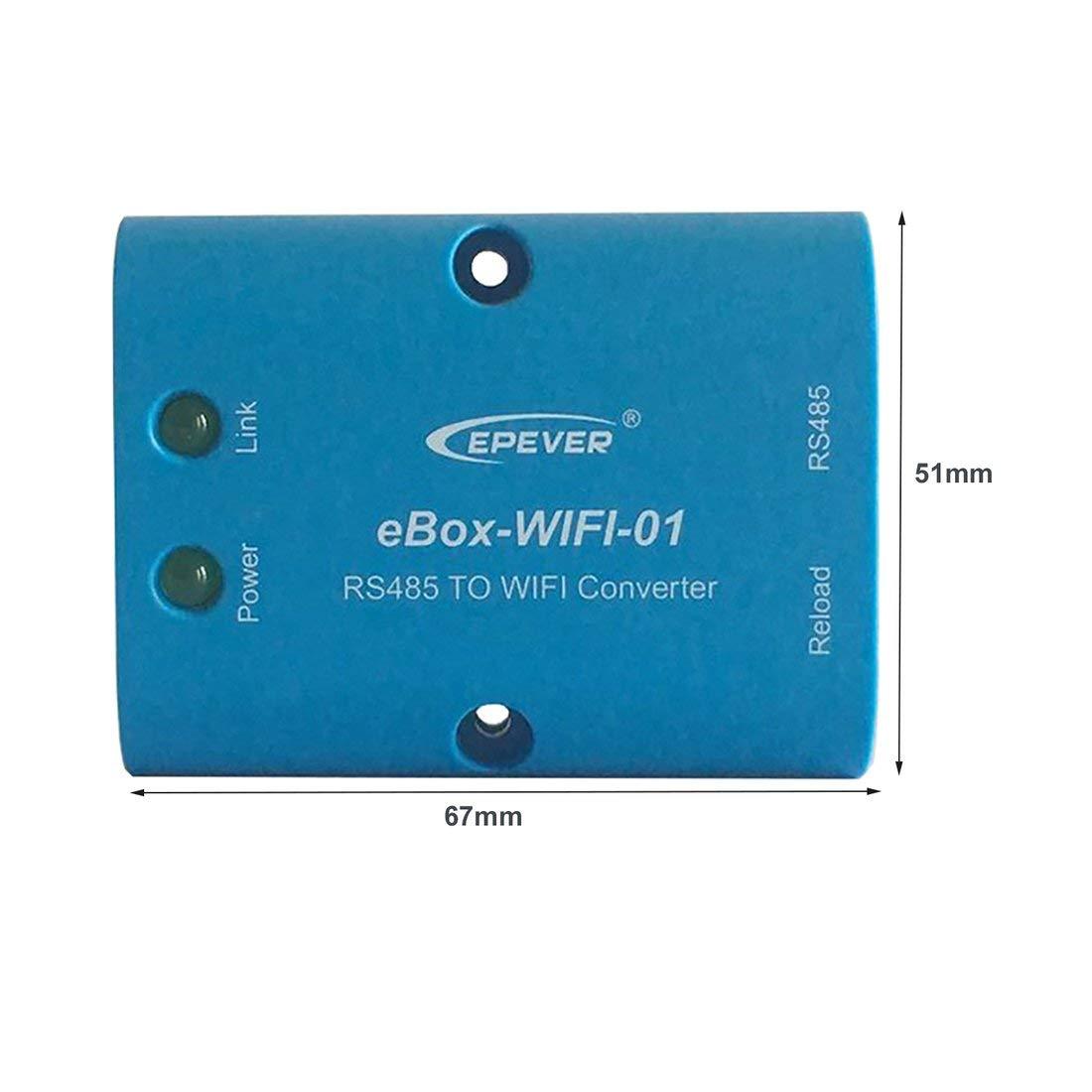 Formulaone Servidor Serie eBox-WIFI-01 RS485 para el Controlador Solar M4 CPU b/ásica Consumo bajo DC 5V Comunicaci/ón de monitoreo inal/ámbrico
