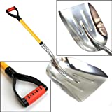 XtremepowerUS Big Scoop Aluminum Snow Shovel with Soft Grip Handle
