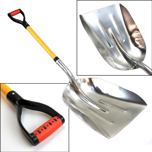 XtremepowerUS Big Scoop Aluminum Snow Shovel with Soft Grip Handle by XtremepowerUS