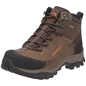 Merrell Norsehund Omega Mid Waterproof Men's Hiking Boots, Brown, US9.5