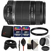 Canon EF-S 55-250mm f/4-5.6 IS II Lens for EOS 7D Mark II, 7D, 80D, 70D, 60D, 50D, 40D, 30D, 20D, Rebel T6s, T6i, T5i, T4i, SL1, T3i, T6, T5, T3, T2i, T1i, XSi, XS, XTi, XT with Accessories
