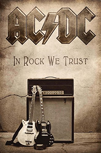 AC/DC In Rock We Trust new Official Textile - Flag Dc Ac