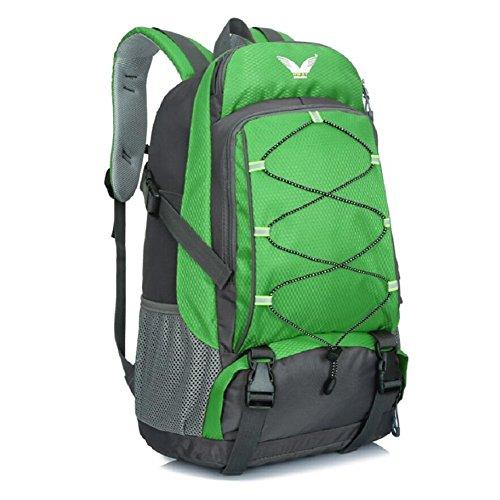 ZC&J Hombres y mujeres al aire libre al aire libre alpinismo mochila, 36-55 litros de gran capacidad impermeable mochila de alta calidad, la caminata de cinturón ajustable mochila,B,36-55L A