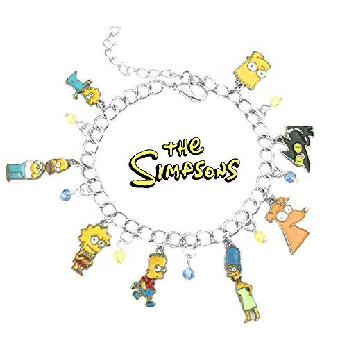 The Simpson Charm Bracelet DC Comics 2018 Movies Cartoons Superhero Logo Theme Premium Quality Detailed Cosplay Jewelry Gift (Les Simpson Halloween Le Film)